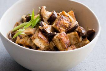 Chinese Tofu And Mushrooms