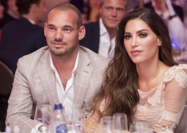 Wesley Sneijder And Yolanthe Cabau